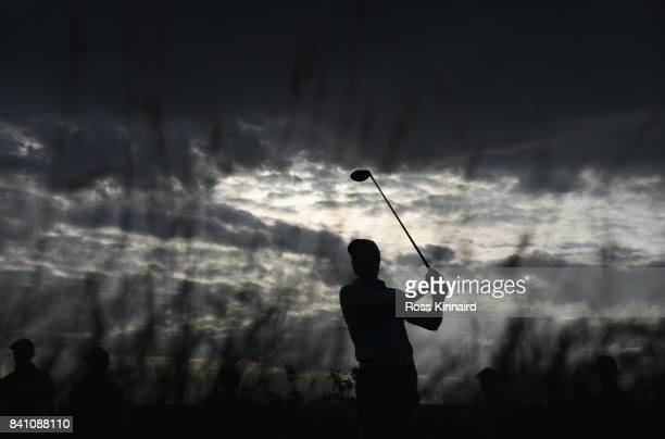 Brett Rumford of Australia tees off on the 11th hole during day one of the DD REAL Czech Masters at Albatross Golf Resort on August 31 2017 in Prague...