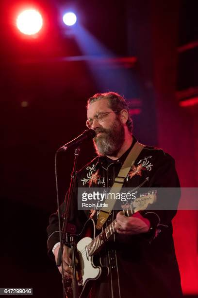 Brett Sparks of the Handsome Family performs at the Union Chapel on March 2 2017 in London England