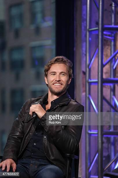 Brett Tucker attends AOL Build Presents Jes Macallan And Brett Tucker at AOL Studios In New York on June 18 2015 in New York City