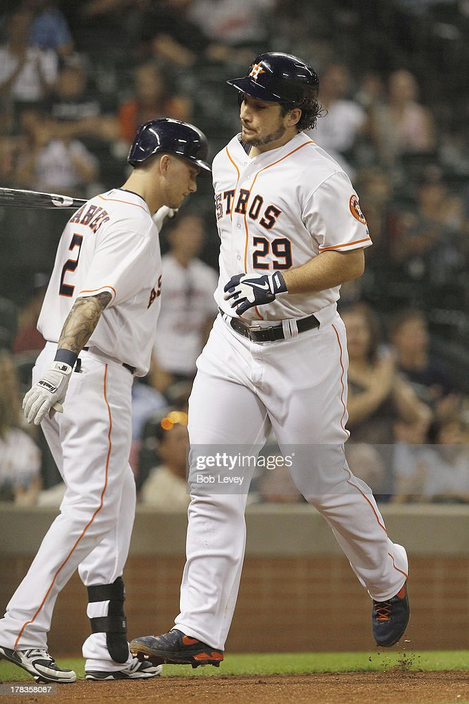 <a gi-track='captionPersonalityLinkClicked' href=/galleries/search?phrase=Brett+Wallace&family=editorial&specificpeople=2364861 ng-click='$event.stopPropagation()'>Brett Wallace</a> #29 of the Houston Astros hits a home run in the fifth inning against the Seattle Mariners at Minute Maid Park on August 29, 2013 in Houston, Texas.