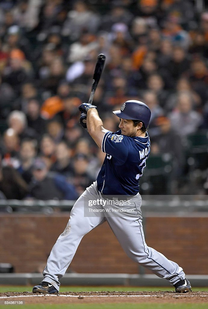 <a gi-track='captionPersonalityLinkClicked' href=/galleries/search?phrase=Brett+Wallace&family=editorial&specificpeople=2364861 ng-click='$event.stopPropagation()'>Brett Wallace</a> #39 of the San Diego Padres bats against the San Francisco Giants at AT&T Park on May 23, 2016 in San Francisco, California.