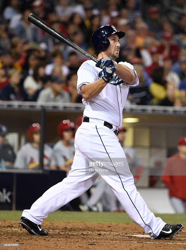 Brett Wallace 39 Of The San Diego Padres Hits A Two Run Home