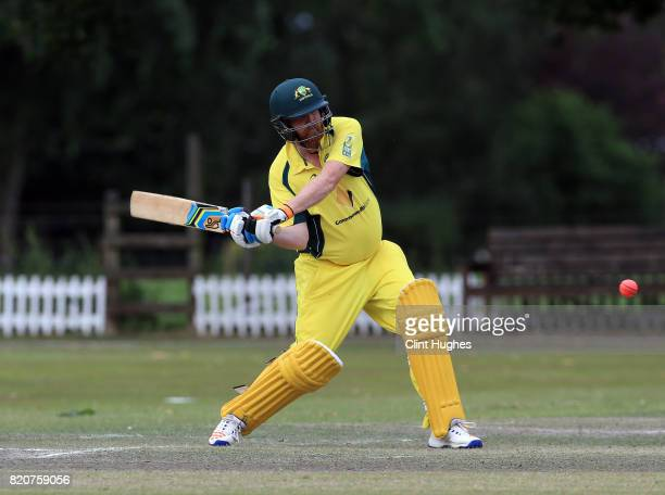 Brett Wilson of Australia bats during the T20 INAS TriSeries against South Africa at Toft Cricket Club on July 18 2017 in Knutsford England