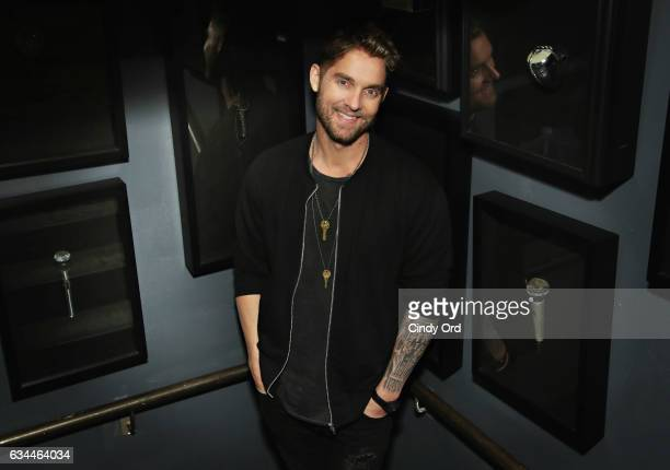 Brett Young performs a private concert for SiriusXM at Printers Alley on February 9 2017 in New York City