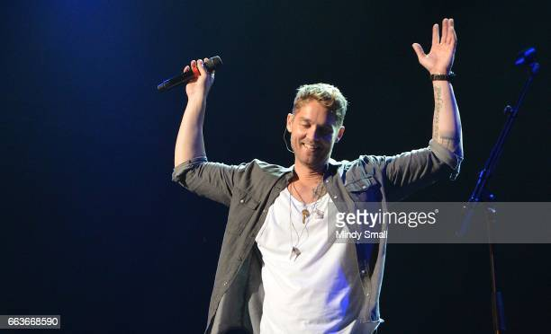 Brett Young performs during the 5th ACM Party for a Cause at The Joint inside the Hard Rock Hotel Casino on April 1 2017 in Las Vegas Nevada
