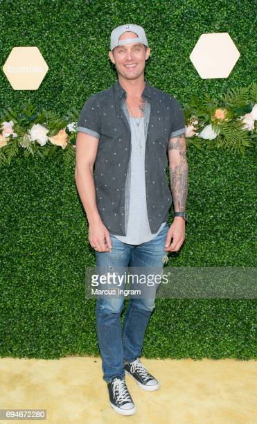 Brett Young performs during the Bumble and Lady Antebellum You Look Good Bumble Beetique at The Bell Tower on June 10 2017 in Nashville Tennessee