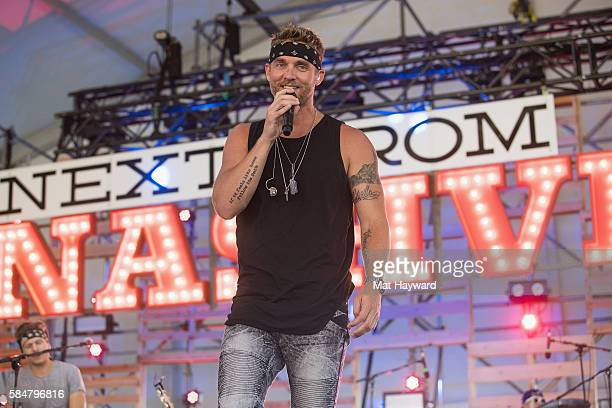 Brett Young performs on the Next From Nashville stage during the Watershed Music Festival at Gorge Amphitheatre on July 30 2016 in George Washington