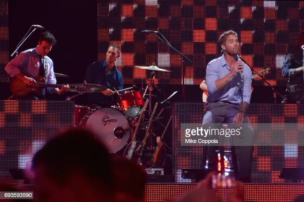 Brett Young performs onstage during the 2017 CMT Music Awards at the Music City Center on June 6 2017 in Nashville Tennessee