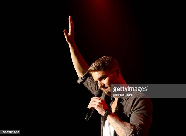 Brett Young performs onstage during the 5th ACM Party for a Cause held at The Joint inside the Hard Rock Hotel Casino on April 1 2017 in Las Vegas...