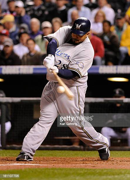 Brewers slugger Prince Fielder connected with a second inning homerun off Colorado starter Jason Hammel The Colorado Rockies hosted the Milwaukee...