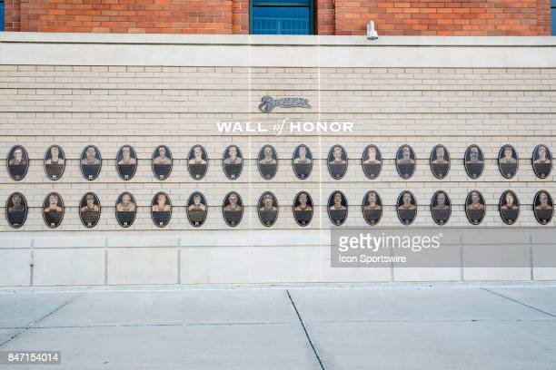 Brewer's Wall of Fame outside Miller Park prior to the rubber match of the final home series between the Milwaukee Brewers and the Pittsburgh Pirates...