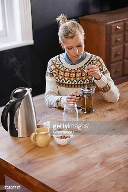 Brewing some fresh herbal tea