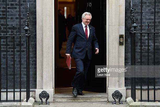 Brexit Secretary David Davis leaves number 10 Downing Street following a Cabinet meeting on November 15 2016 in London England The government...