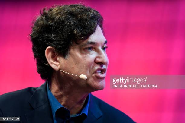 Breyer Capital's founder and chief executive officer Jim Breyer answers a question during an interview at the 2017 Web Summit in Lisbon on November 8...