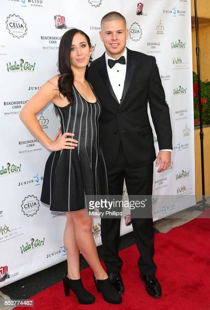 Bri Dimattio and Keith Sutliff arrive at Hollywood Weekly Magazine 4th Annual film festival at Raleigh Studios on September 23 2017 in Los Angeles...