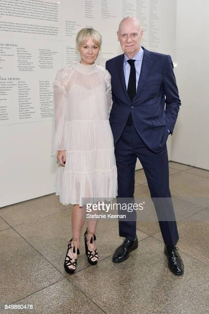 Bri Shulz and Bruce Nelson attend Chloe x MOCA Dinner at MOCA Grand Avenue on September 19 2017 in Los Angeles California