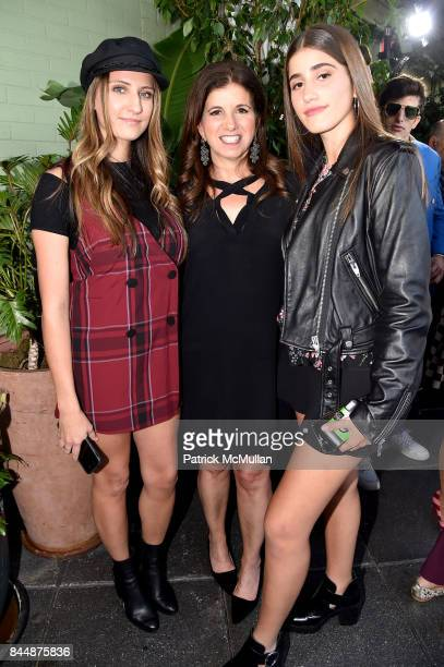 Bri Tomaselli Amy Shecter and Mikayla Kits attend the Nicole Miller Spring 2018 Presentation at Gramercy Terrace at The Gramercy Park Hotel on...