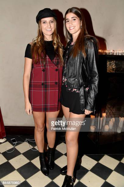 Bri Tomaselli and Mikayla Kits attend the Nicole Miller Spring 2018 Presentation at Gramercy Terrace at The Gramercy Park Hotel on September 8 2017...