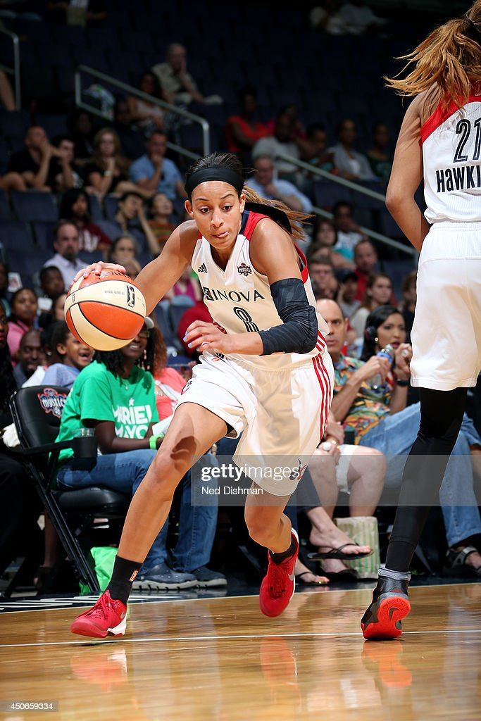 <a gi-track='captionPersonalityLinkClicked' href=/galleries/search?phrase=Bria+Hartley&family=editorial&specificpeople=7334401 ng-click='$event.stopPropagation()'>Bria Hartley</a> #8 of the Washington Mystics drives against the Chicago Sky at the Verizon Center on June 13, 2014 in Washington, DC.