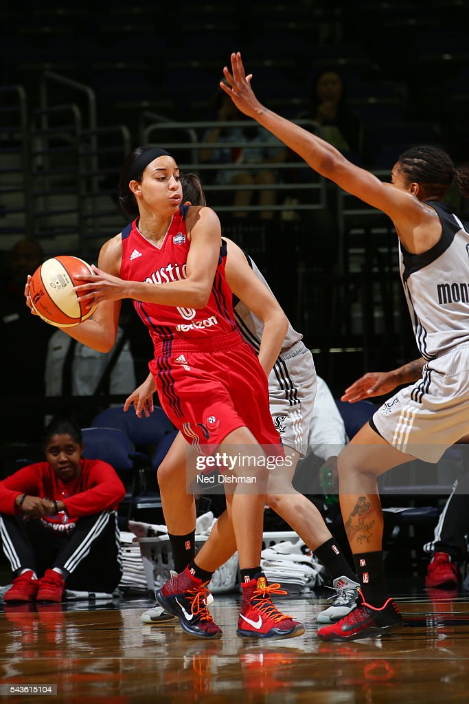 <a gi-track='captionPersonalityLinkClicked' href=/galleries/search?phrase=Bria+Hartley&family=editorial&specificpeople=7334401 ng-click='$event.stopPropagation()'>Bria Hartley</a> #8 of the Washington Mystics handles the ball against the San Antonio Stars on June 29, 2016 at the Verizon Center in Washington, DC.