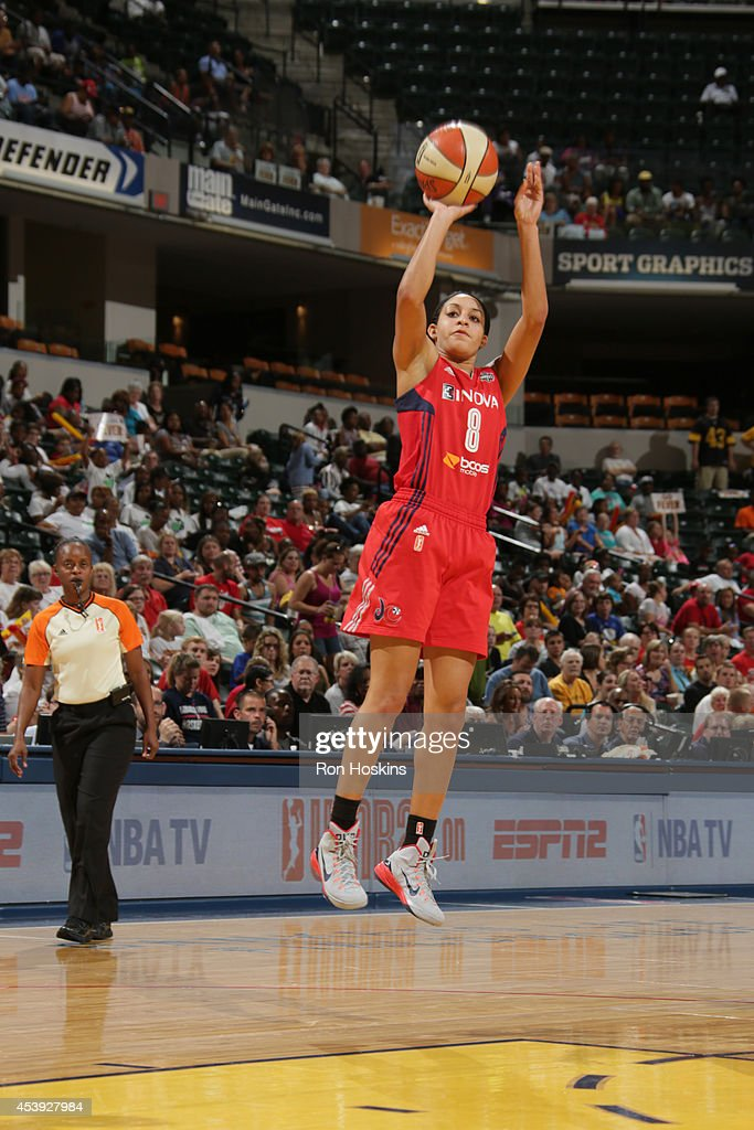 Bria Hartley of the Washington Mystics shoots the ball against the Indiana Fever in Game One of the Eastern Conference Semifinals during the 2014...