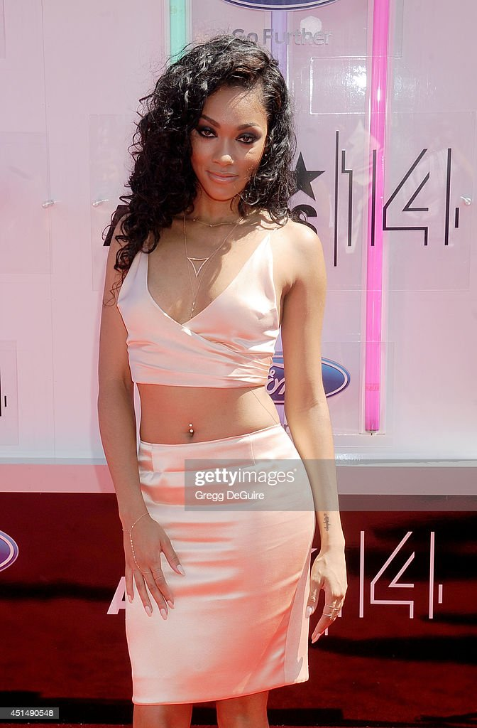 Bria Murphy arrives at the BET AWARDS 14 at Nokia Theatre L.A. Live on June 29, 2014 in Los Angeles, California.