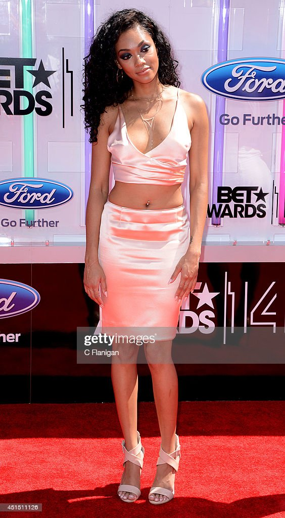 Bria Murphy arrives to the 2014 'BET AWARDS' at Nokia Plaza L.A. LIVE on June 29, 2014 in Los Angeles, California.