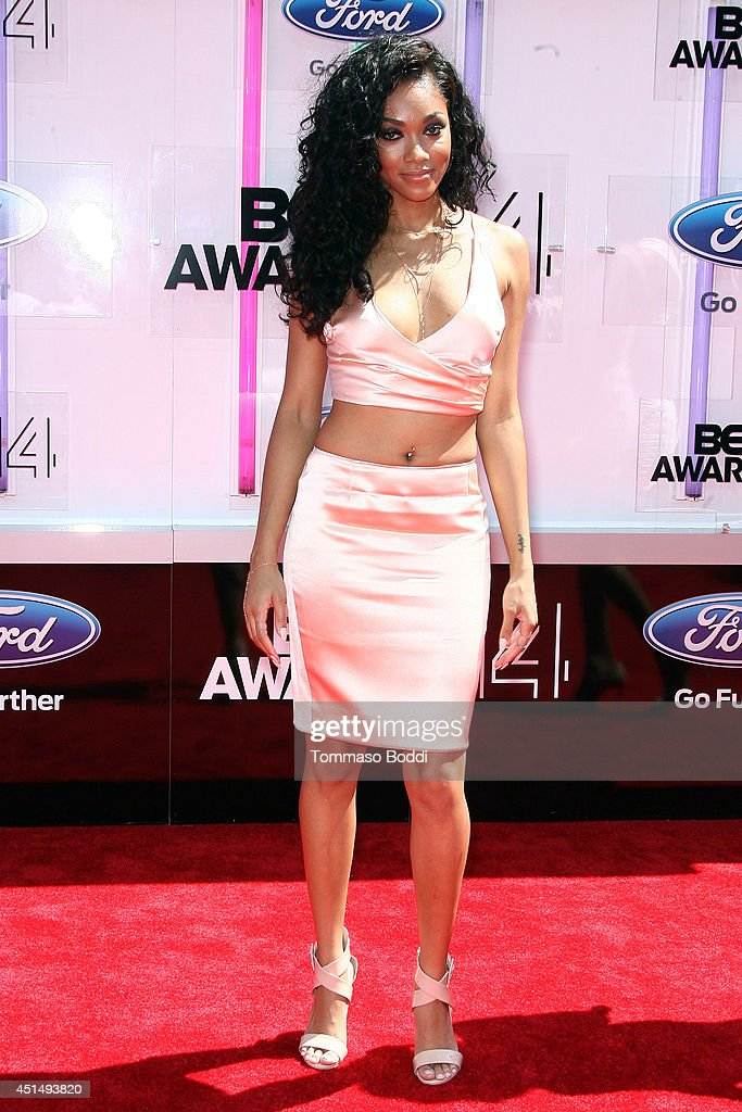 Bria Murphy attends the 'BET AWARDS' 14 held at Nokia Theatre L.A. Live on June 29, 2014 in Los Angeles, California.