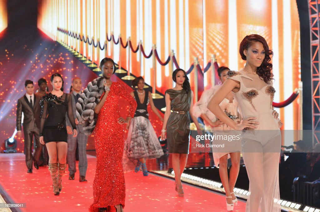 <a gi-track='captionPersonalityLinkClicked' href=/galleries/search?phrase=Bria+Murphy&family=editorial&specificpeople=1523566 ng-click='$event.stopPropagation()'>Bria Murphy</a> walks the runway BET's Rip The Runway 2013:Show at Hammerstein Ballroom on February 27, 2013 in New York City.