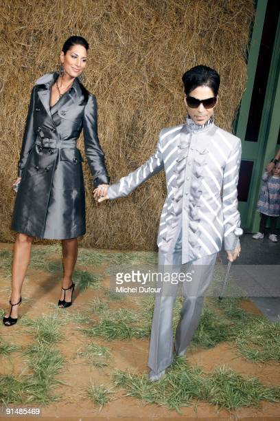 Bria Valente and Prince attend Chanel Pret a Porter show as part of the Paris Womenswear Fashion Week Spring/Summer 2010 at Grand Palais on October 6...