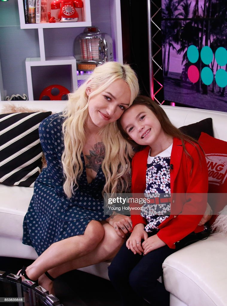 Bria Vinaite And Brooklynn Prince Visit Young Hollywood Studio