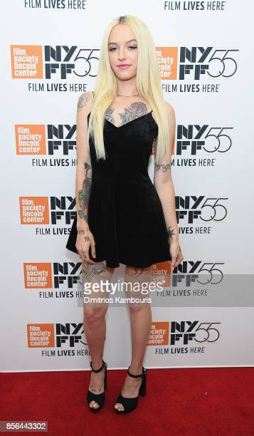Bria Vinaite attends The 55th New York Film Festival 'The Florida Project' at Alice Tully Hall on October 1 2017 in New York City