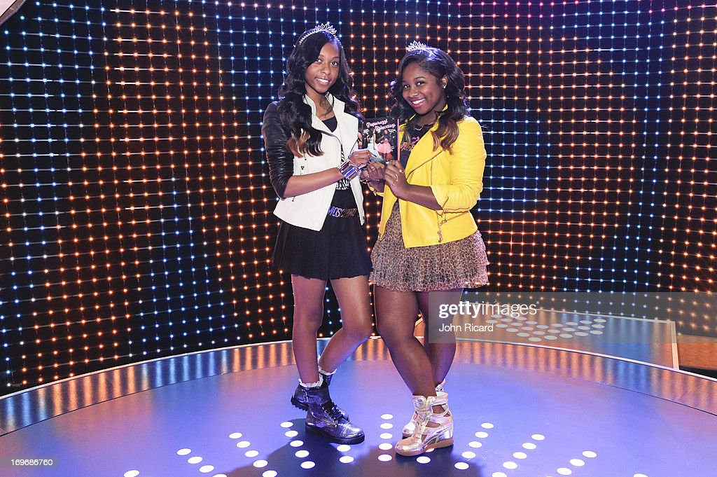 Bria Williams and Reginae Carter visit BET's '106 & Park' at BET Studios on May 30, 2013 in New York City.