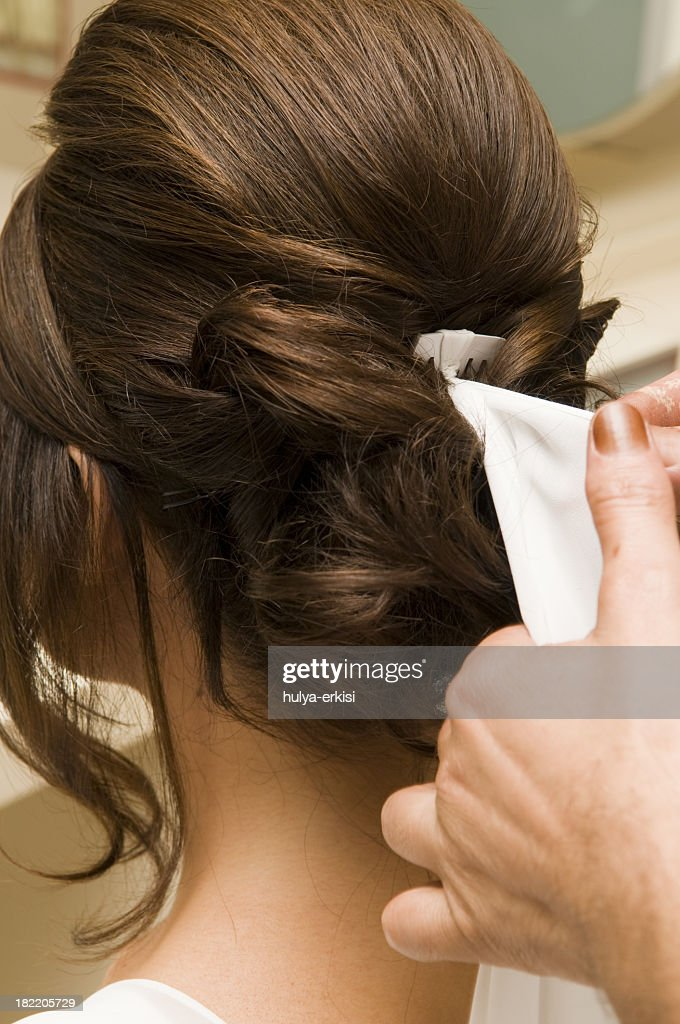 Brial Hair Style at Salon : Stock Photo