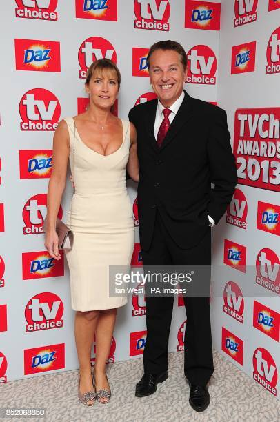Brian and AnneMarie Conley arriving for the 2013 TV Choice awards at the Dorchester Hotel London