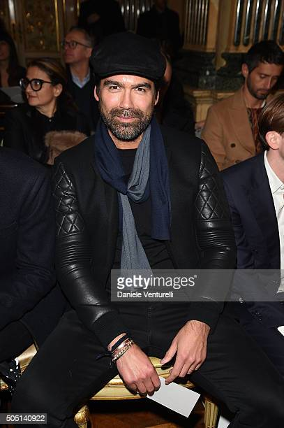 Brian Atwood attends the Roberto Cavalli show during the Milan Men's Fashion Week FW16 on January 15 2016 in Milan Italy
