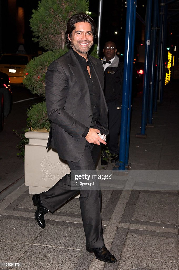Brian Atwood is seen arriving at The Waldorf Towers on October 24, 2012 in New York City.