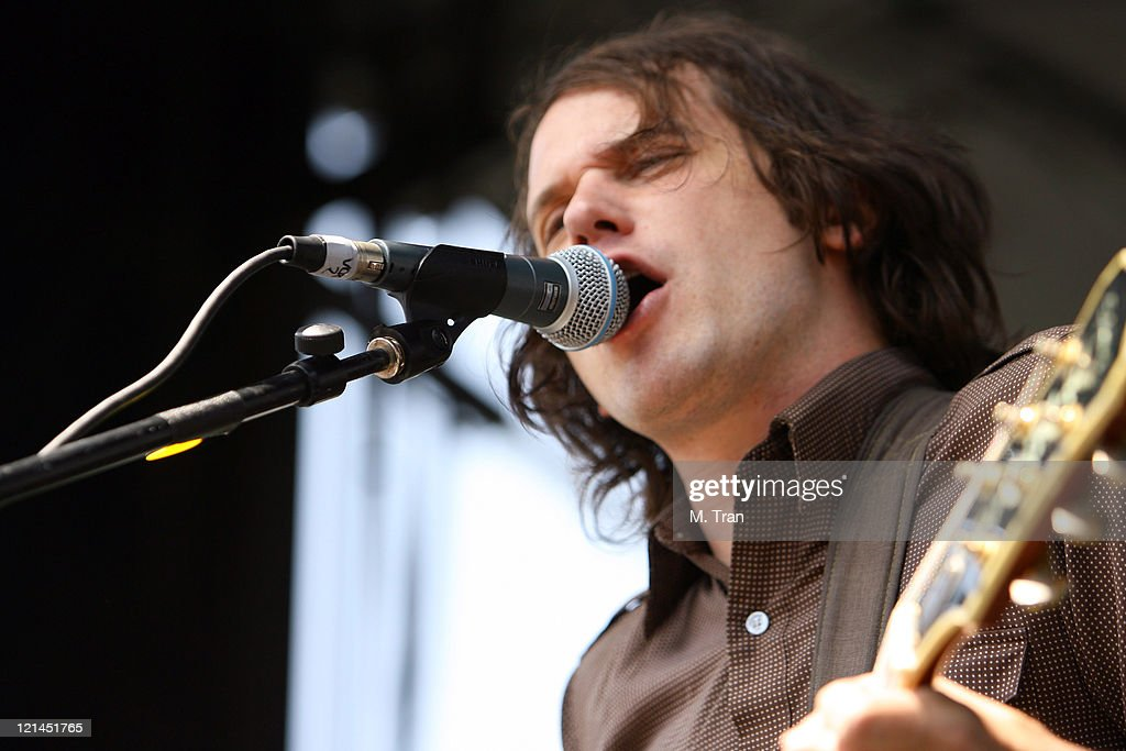 Brian Aubert of Silversun Pickups during KROQ Weenie Roast Y Fiesta 2007 - Show at Verizon Amphitheater in Irvine, California, United States.