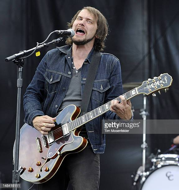 Brian Aubert of Silversun Pickups performs as part of Day 4 of the Sasquatch Music Festival at the Gorge Amphitheatre on May 28 2012 in George...