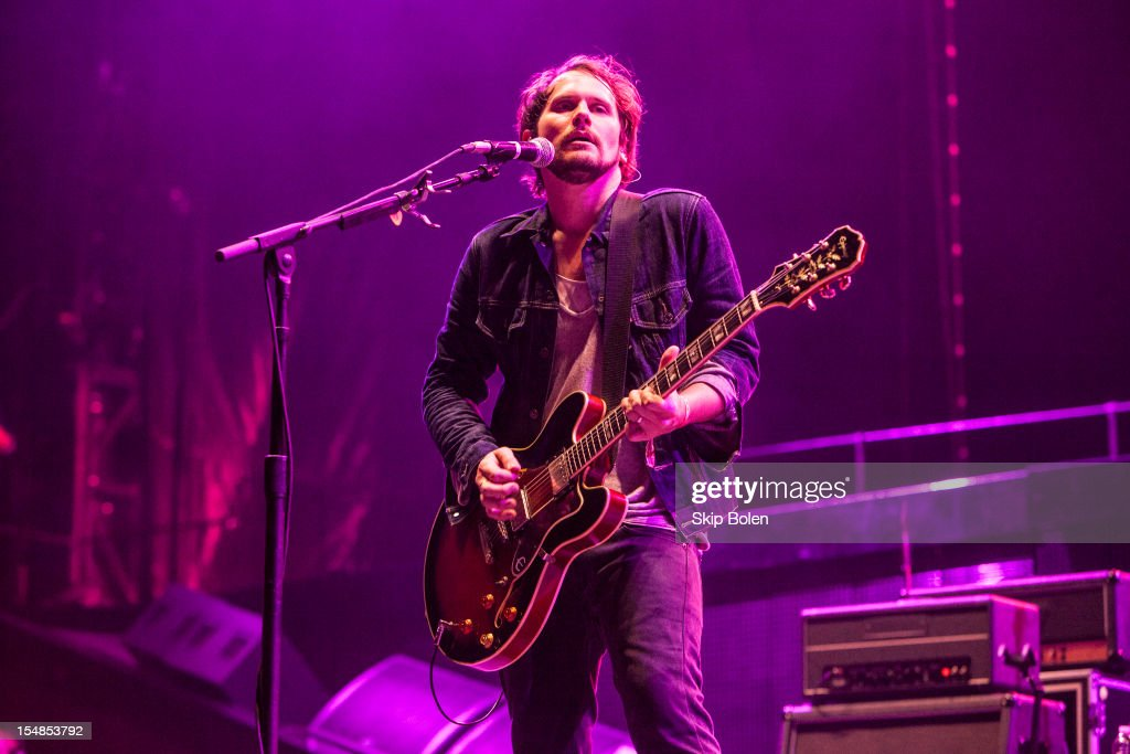 <a gi-track='captionPersonalityLinkClicked' href=/galleries/search?phrase=Brian+Aubert&family=editorial&specificpeople=4075736 ng-click='$event.stopPropagation()'>Brian Aubert</a> of Silversun Pickups performs during the 2012 Voodoo Experience at City Park on October 27, 2012 in New Orleans, Louisiana.