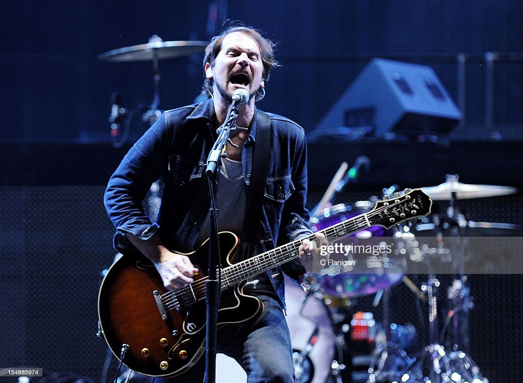 Brian Aubert of Silversun Pickups performs during the 2012 Voodoo Experience at City Park on October 27, 2012 in New Orleans, Louisiana.