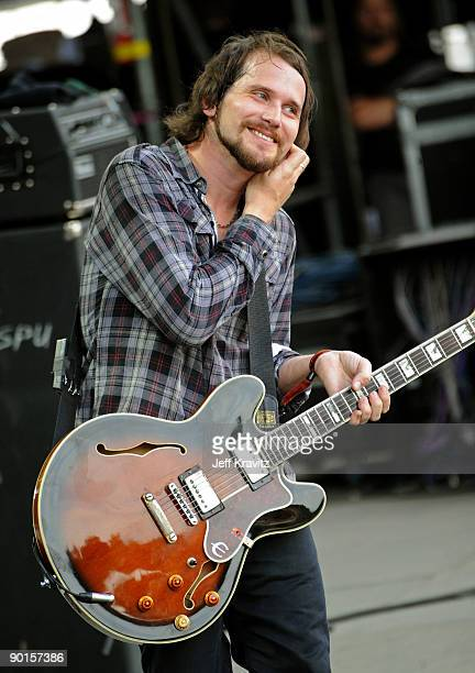 Brian Aubert of Silversun Pickups performs onstage at the 2009 Outside Lands Music and Arts Festival at Golden Gate Park on August 28 2009 in San...