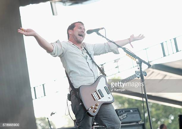 Brian Aubert of Silversun Pickups performs onstage at the 2016 Panorama NYC Festival Day 1 at Randall's Island on July 22 2016 in New York City