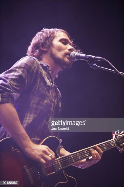Brian Aubert of the Silversun Pickups performs on day 2 of the 2009 San Diego Street Scene Music Festival on August 29 2009 in San Diego California