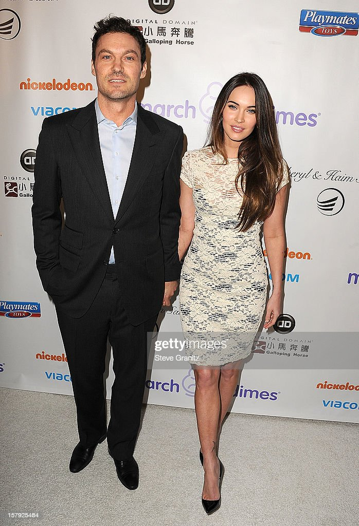 Brian Austin Green and Megan Fox arrives at the March Of Dimes' Celebration Of Babies at Beverly Hills Hotel on December 7, 2012 in Beverly Hills, California.
