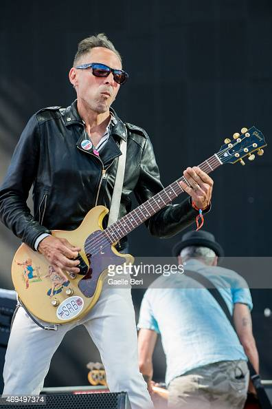 Brian Baker of Bad Religion performs on stage at Coachella Festival at The Empire Polo Club on April 11 2015 in Indio United States