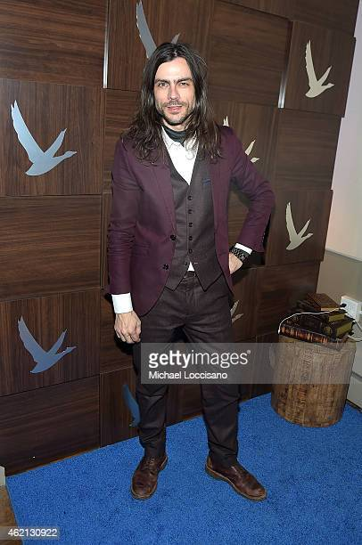 Brian Bell of Weezer attends the Slow West Cast Party at the GREY GOOSE Blue Door during Sundance on January 24 2015 in Park City Utah
