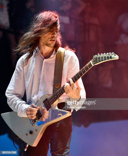 Brian Bell of Weezer performs at the Surf Stage during the 2017 Hangout Music Festival on May 19 2017 in Gulf Shores Alabama