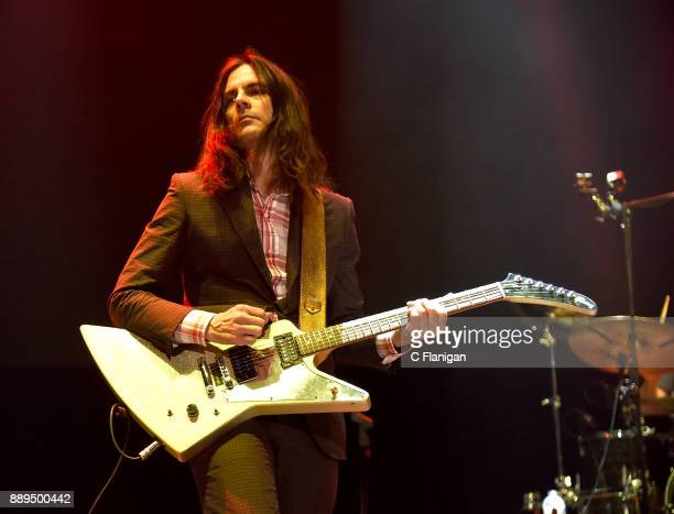 Brian Bell of Weezer performs during Live 105's 2017 Not So Silent Night at ORACLE Arena on December 9 2017 in Oakland California