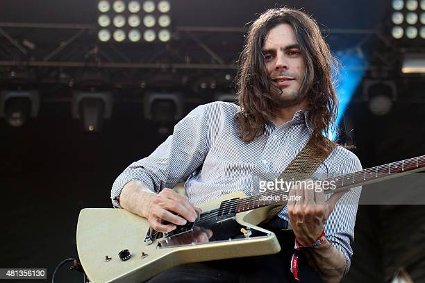Brian Bell of Weezer performs during Project Pabst 2015 at Zidell Yards on July 19 2015 in Portland Oregon